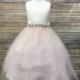 Swirl Crystal Belt Girls Dress