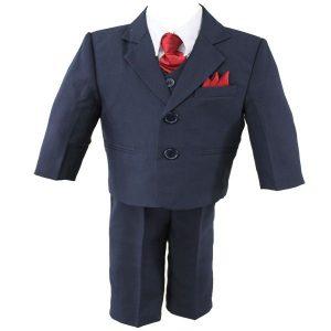 boys navy blue suit