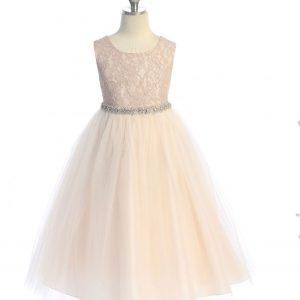 girls lace top dress